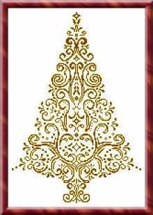 Christmas Tree 10 - Cross Stitch Pattern