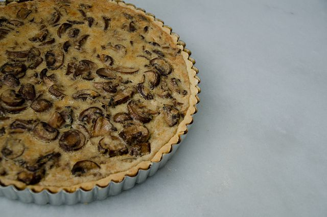 mushroom tart from smitten kitchen's cookbook. REALLY DELICIOUS.
