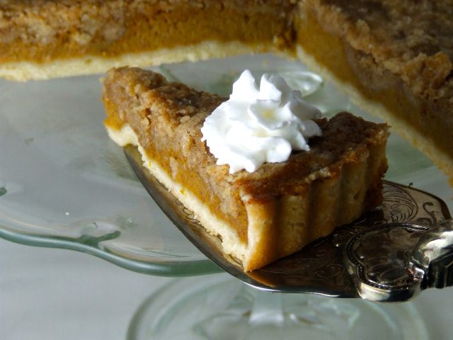 Bourbon Pumpkin Tart With Walnut Streusel Recipes — Dishmaps