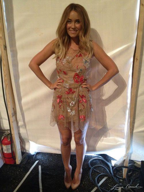Love this dress!!  Lauren Conrad at New York Fashion Week in Jenny Packham