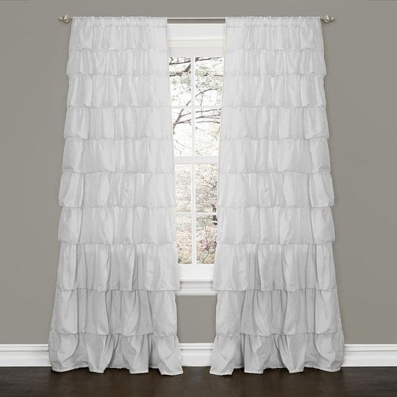 Image Result For White Ruffle Blackout Curtains