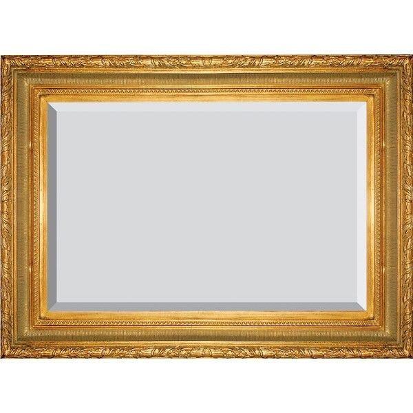 Gold Mirror Ribbed Frame Beveled Glass Large Size 51u0026quot; New Free ...
