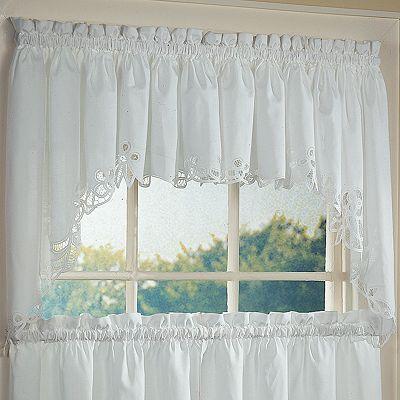 Battenburg Floral Kitchen Curtains Windows Pinterest