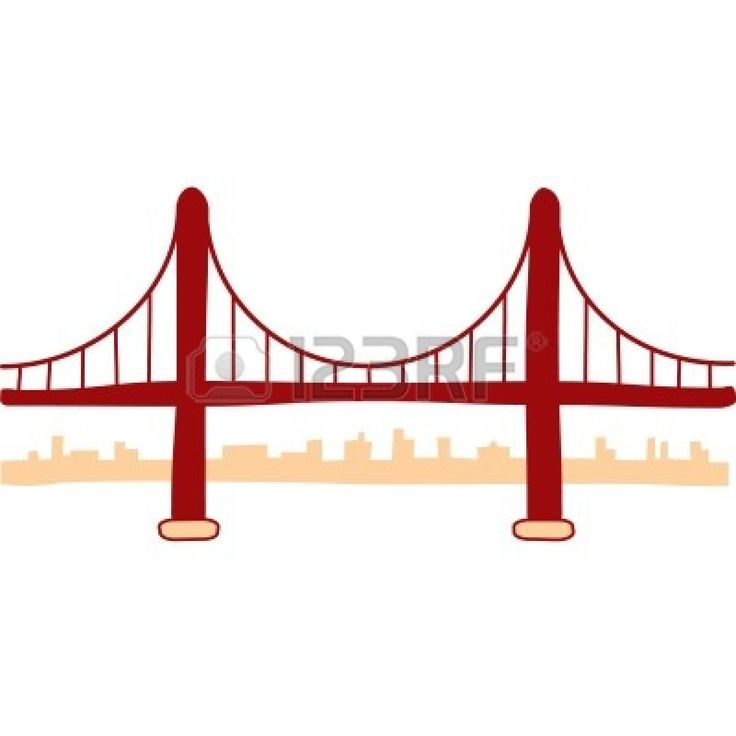Golden Gate Bridge Drawing Clip Art Pin by Emma Gray on We...