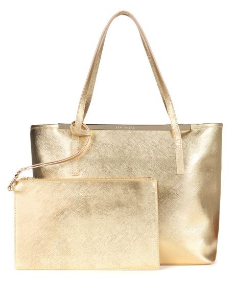 Crosshatch shopper - Gold | Bags | Ted Baker UK