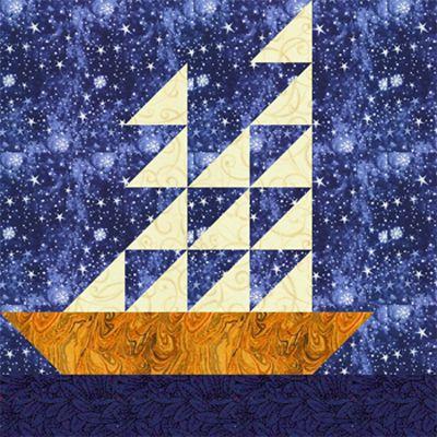 Tall Ships Quilt Block Pattern