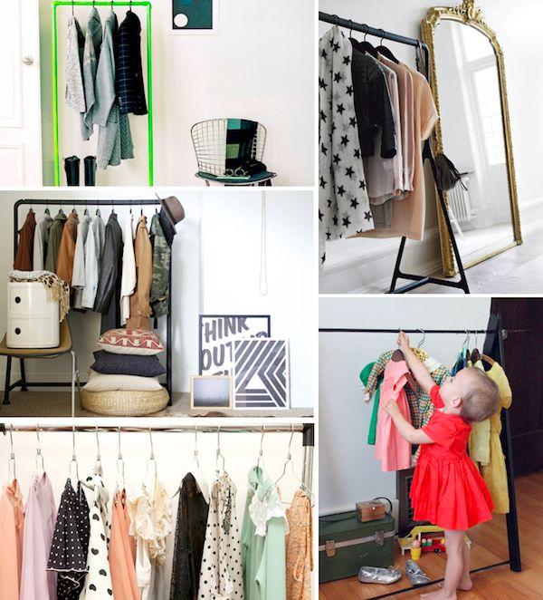 Storage Solutions DIY Garment Rack / Clothes Rack