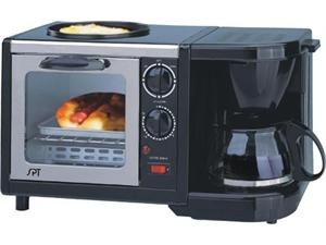 In-1 Breakfast Maker - Toaster Oven, Coffee Maker and Frying Pan!