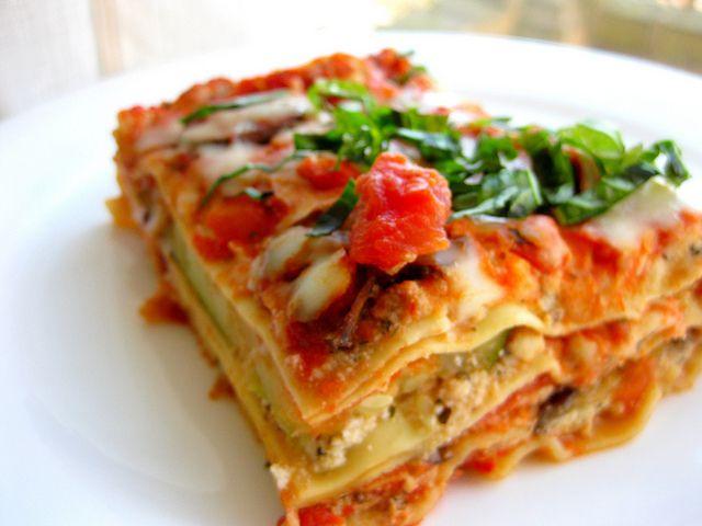 Roasted Vegetable Lasagna   food-light W.W.   Pinterest