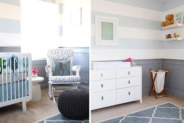 quarto de bebê azul e cinza nursery Pinterest ~ Quarto Vintage Cinza