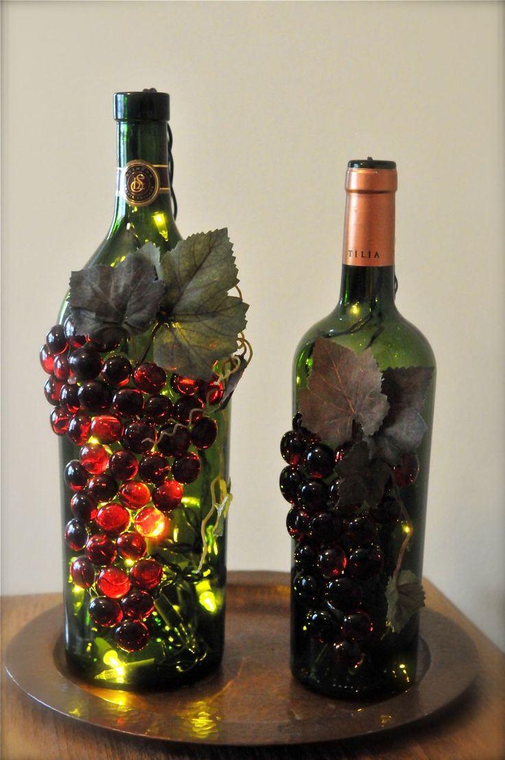 Что сделать из бутылки из под вина своими руками