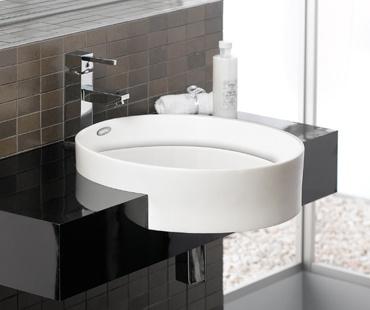 Round Semi Surface Mounted Sink Bathroom Fixtures Pinterest