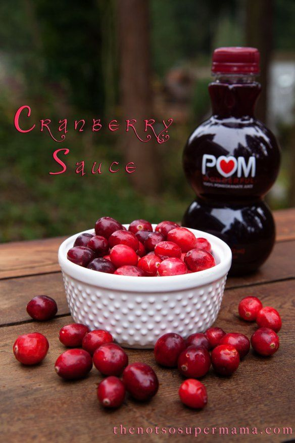 Cranberry Pomegranate sauce - for Christmas!