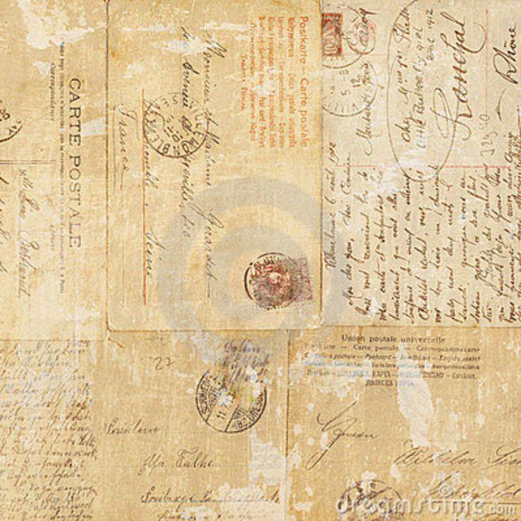 Grungy Vintage Postcard Ephemera Collage Backgroun Royalty Free Stock Photography - Image: 20986907