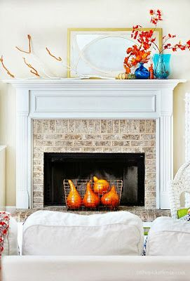 The Liberty Cottage : Indoor Fall Decorating! Mantel