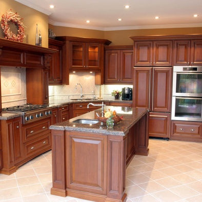 Kitchen wall colors with cherry cabinets design pictures for Kitchen colors with cherry cabinets