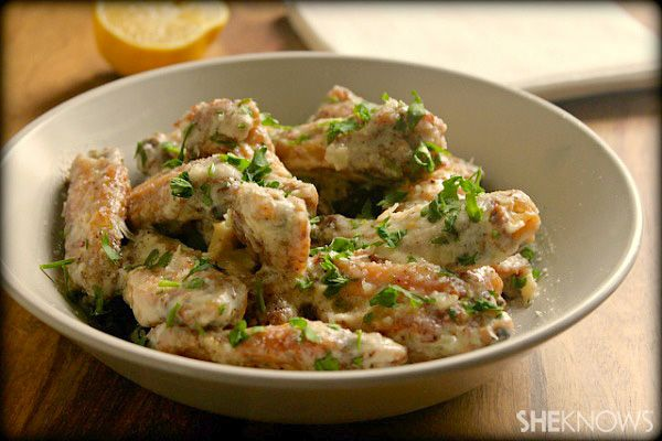 Parmesan garlic baked chicken wings. I made this twice in one week ...