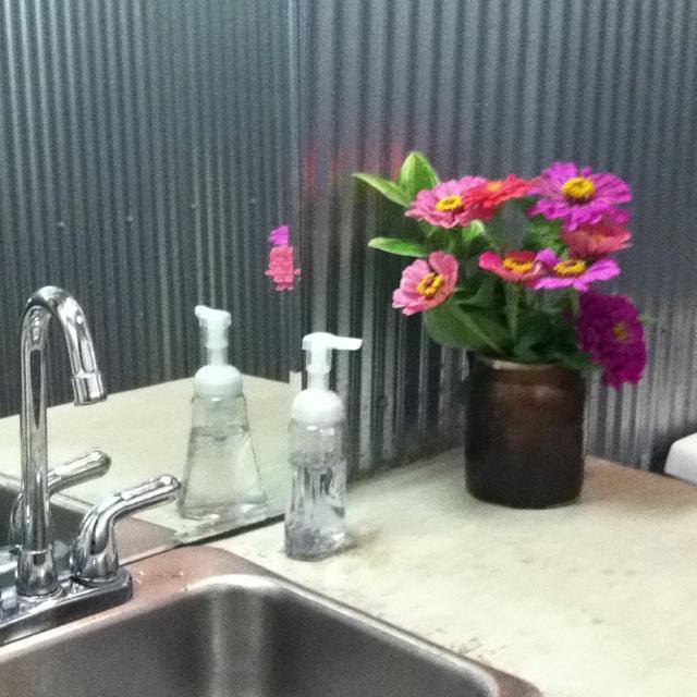 corrugated metal backsplash in kitchen corrugated metal