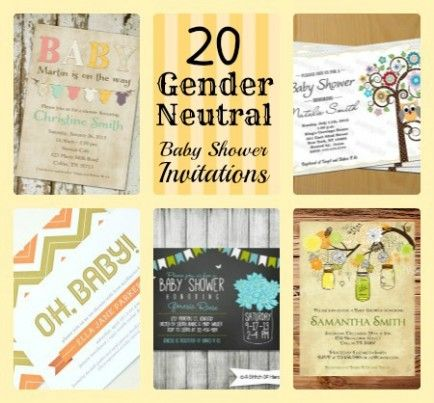 20 best gender neutral baby shower invitations from etsy