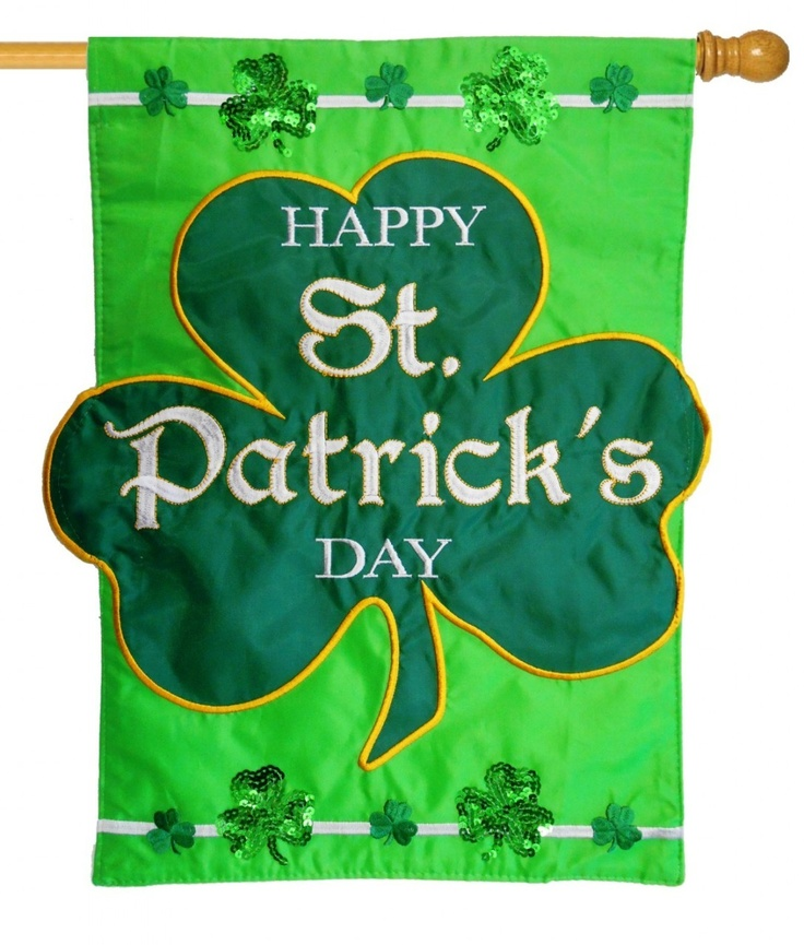 st patrick's day house flags