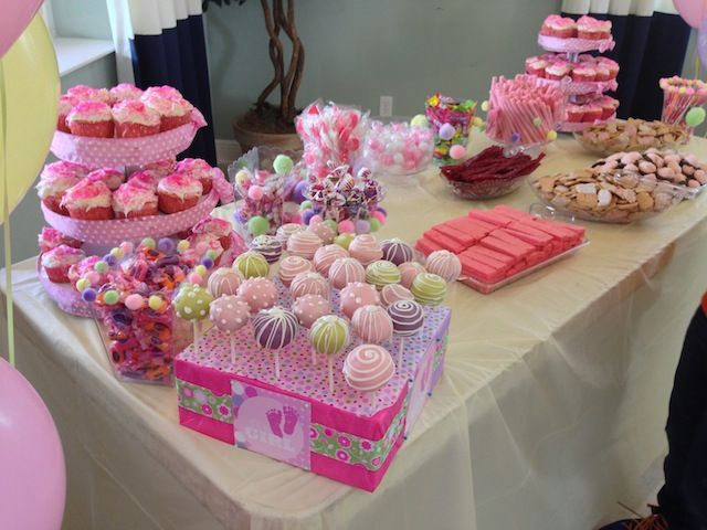 pink baby shower candy bar baby shower ideas pinterest