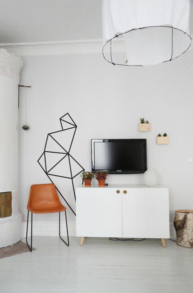 washi tape wall art craft diy pinterest. Black Bedroom Furniture Sets. Home Design Ideas