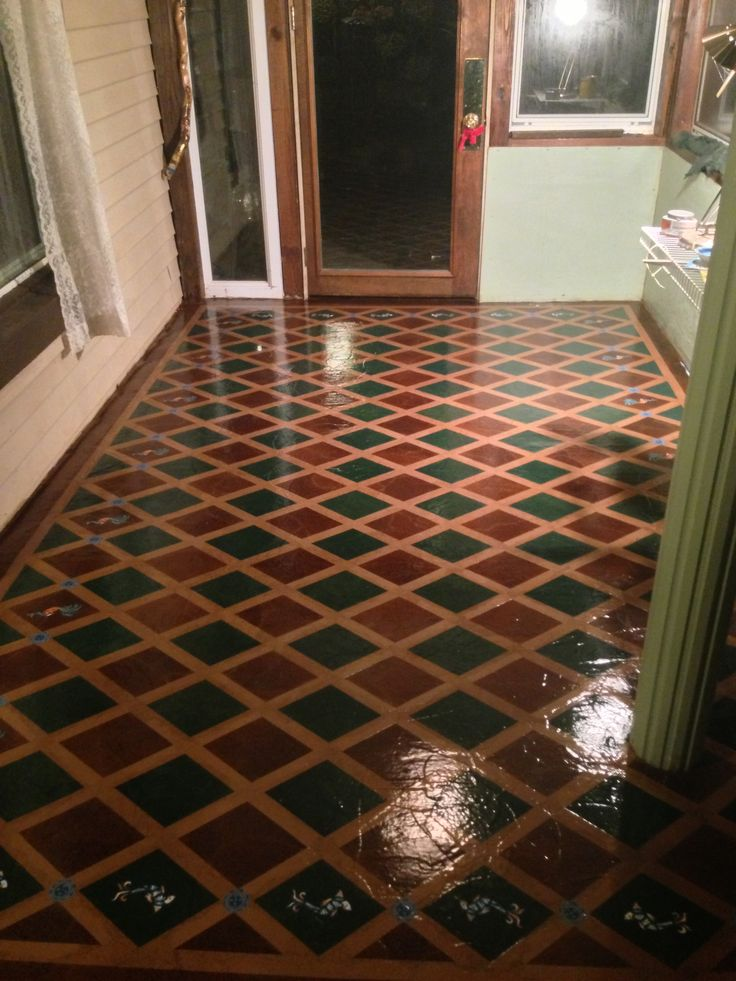 My paperbag floor stained stenciled varnished tips use for High traffic flooring ideas