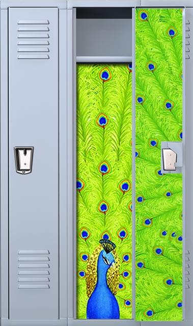 peacock locker wallpaper set