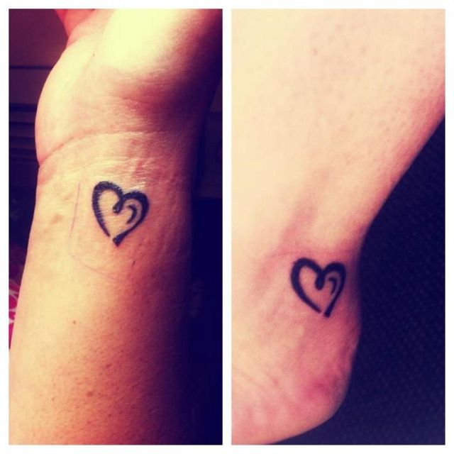 Best Friend Sister at heart tattoosBest Friend Tattoos Pinterest
