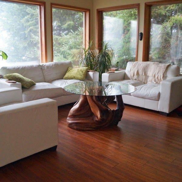 Decoração Rústica: móveis feitos com troncos