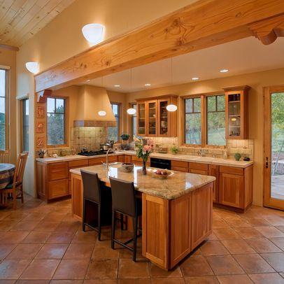 Terra cotta floor backsplash and wood interior exterior future d
