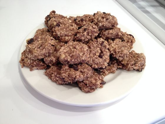 "two ingredient"" (wheat free, egg free, dairy free, fat free) cookies!"