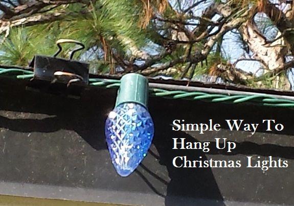 Simple Way to Hang Up Christmas Holiday Lights Outside