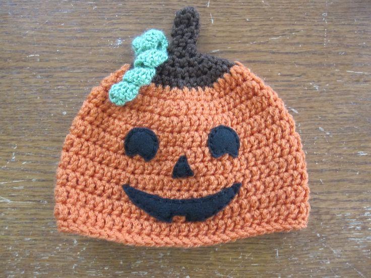 Crochet Halloween Baby Hat Pattern : Jack OLantern Hat Baby and Toddler Crochet Hats Pinterest