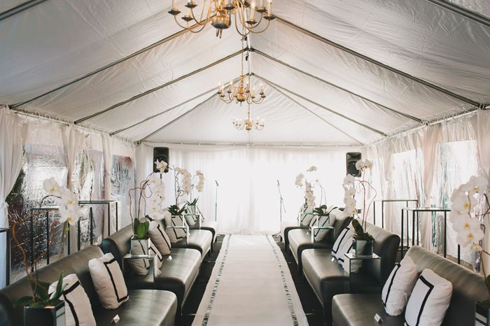 ceremony tent turned luxe lounge | Ultra Chic Black + White Wedding in Toronto | Images by Mango Studios