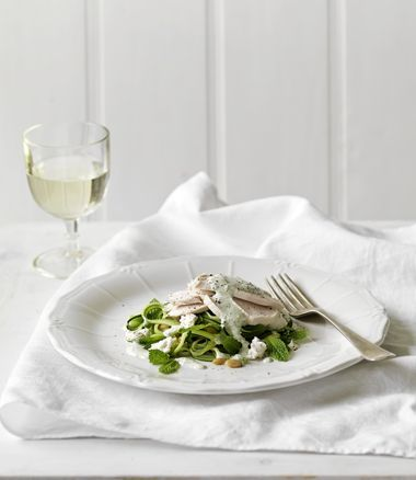 Chicken Breast Fillets with Zucchini, Goat's Cheese and Mint Salad ...