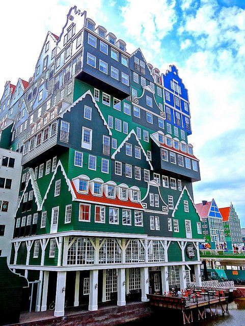 Inntel Hotels Amsterdam Zaandam, Netherlands. If I had to stay at a hotel, I wouldn't mind this one!