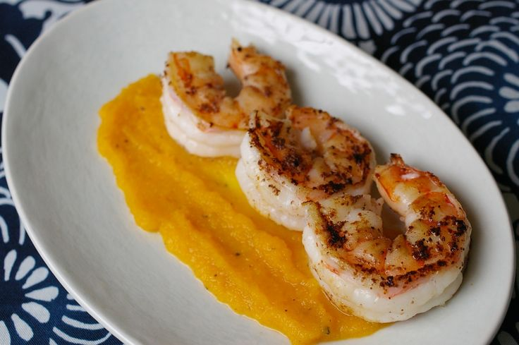 Butternut Squash Soup With Star Anise And Ginger Shrimp Recipe ...