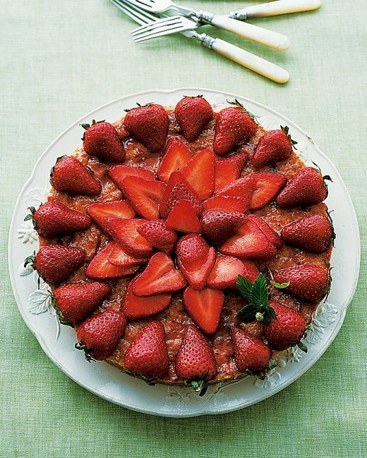 Almond Macaroon Galette with Strawberries - Martha Stewart Recipes