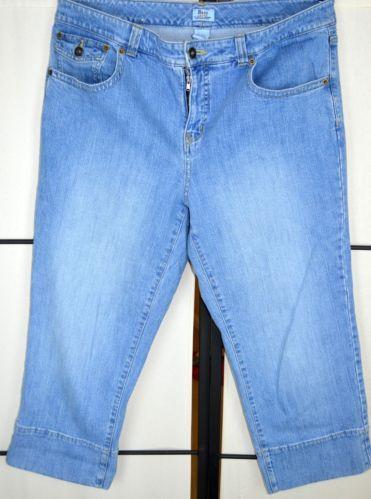 Bass size 12 jeans capri crop blue stretch 34 quot waist ebay