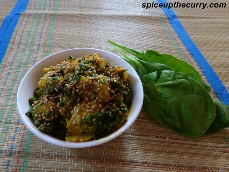 Aloo Palak Recipe | Masala Kitchen | Pinterest