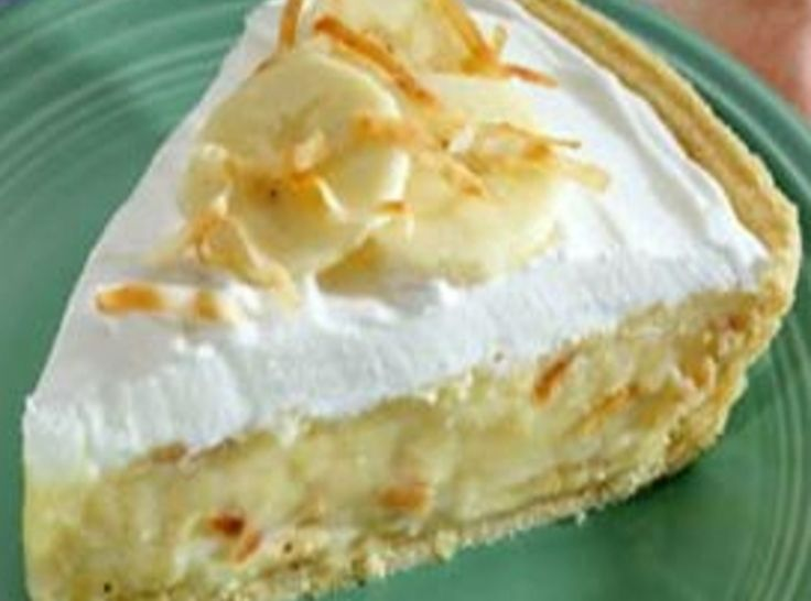 Banana Coconut Cream Pie | Recipes - Holiday | Pinterest