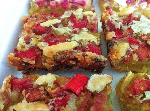 Ginger Almond Rhubarb Bars with Coconut Crust...they might not sound ...