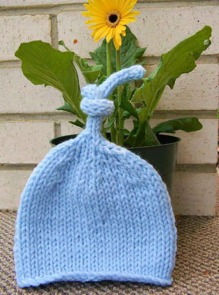 Baby Knot Hat Knitting Pattern : Knot hat! Crafts Pinterest
