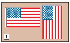 how to hang us flag on wall