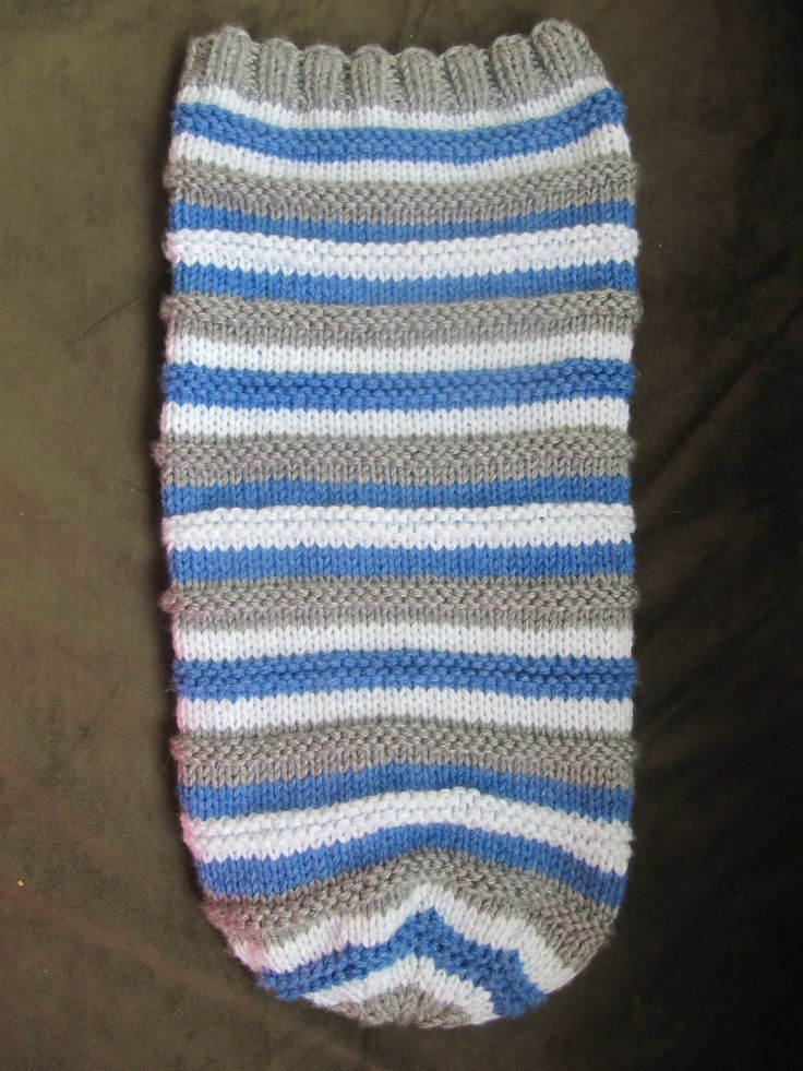 Baby Sleep Sack~free pattern. Knitted baby cocoon & hat ...