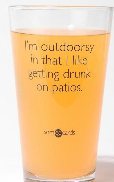 as outdoorsy as I get.