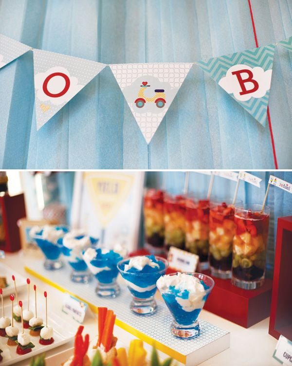 Vehicle birthday party inspiration