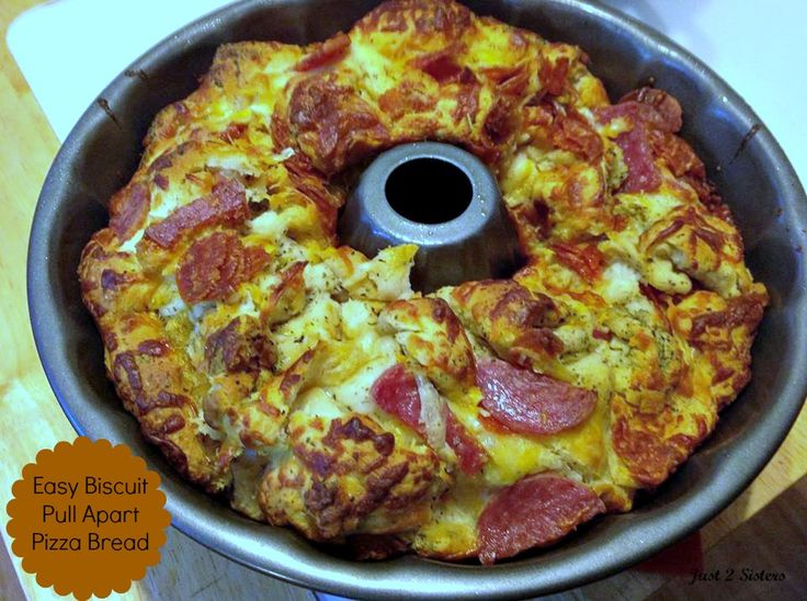 ... Easy Biscuit Pull Apart Pizza Bread Recipe! #pizza #appetizers #recipe