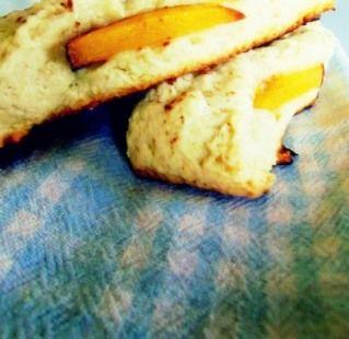 Peach Cobbler Scones -- via Oven Of Happiness.